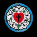 Cross Luther Rose Seal Lutheran Biker Christian Embroidered Patch