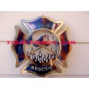 Fire and Rescue - Fire Fighter Emblem - Firefighter Wall Decor