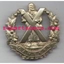 Cameron Officers Silver 1902 To Amalgamation Cap Badges