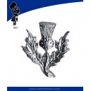 Metal Thistle Cap Badge