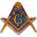 Freemason Auto Emblem Decal Masonic Car Emblem