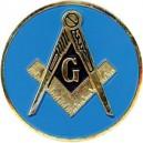 Masonic Blue Auto Emblem