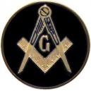Masonic Black Auto Emblem