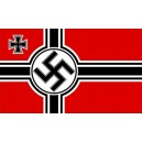 Third Reich Battle Swastika Flag