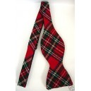 Marlon Garci Red and Black Tartan Plaid Bow Tie