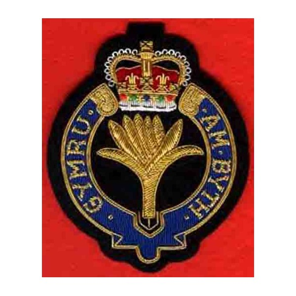 The Welsh Guards Badge  Hand  Embroidered Badge