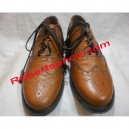 Tan Brown Piper Ghillie Brogues
