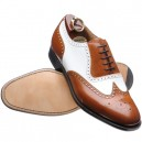 DRESS GHILLIE BROGUES WITH WHITE/BROWN
