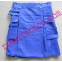 DELUXE Blue Cotton Utility Kilt