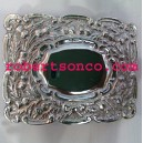 Sterling Silver Military Thistle Waist Belt Buckle