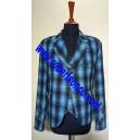 Blue & Black Check Tweed Argyll Kilt Jacket with Five Button Waistcoat