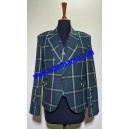 Green Check Tweed Argyll Kilt Jacket with Five Button Waistcoat