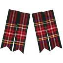 Black Stewart Tartan Kilt Sock Flashers