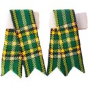 Irish National Tartan Kilt Sock Flashes
