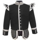 Black Pipe Band Doublet With Shoulders