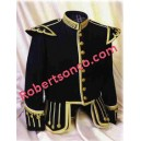 Black Wool Pipe Band Doublet
