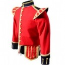 Red / Dark Blue Pipe Band Doublet With Dark Blue Collar