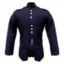 Navy Scots Guards Style Doublet in Gabardine Wool