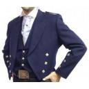 Navy Prince Charlie Jacket With Waistcoat