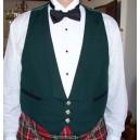 Prince Charlie Green Waistcoat