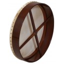 Bodhran 18 inch x 3 1/2 inch engraved rose wood frame