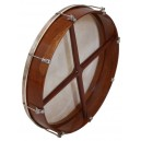 Bodhran 14 inch x 3 1/2 inch rose wood outside tunable of the frame