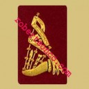 Bagpiper Badges With Gold Wire