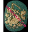 Bagpiper Hand Embroidery Badges With Gold Wire