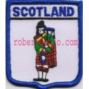 Scotland Piper Flag Embroidered Badge