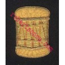 Drummer Hand Embroidery Badge With Gold Wire