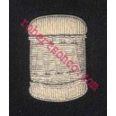 Drummer Hand  Embroidery Badge With Silver Wire