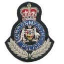 Commonwealth Police Embroidery Badge