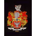 Family Crest Unframed Embroidery