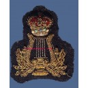 Queen's Crown Royal Army Band Lyre Badge in Gold